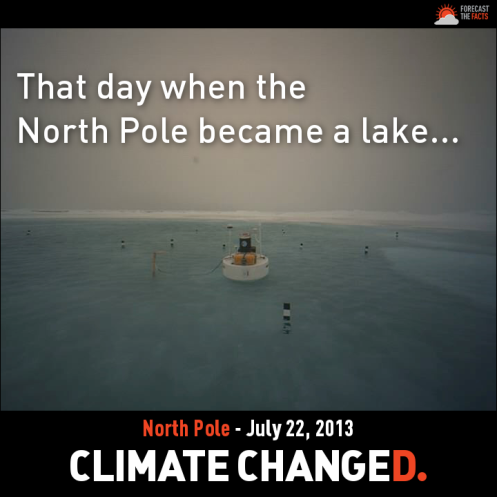 Forecast the Facts picture purporting to show the North Pole