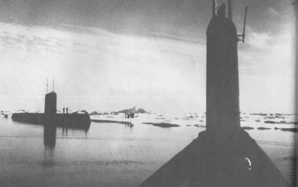 U.S. submarines at North Pole in August 1962