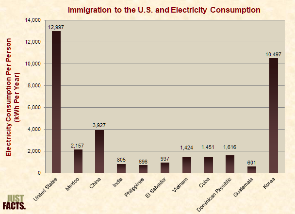 Immigration to the U.S. and Electricity Consumption