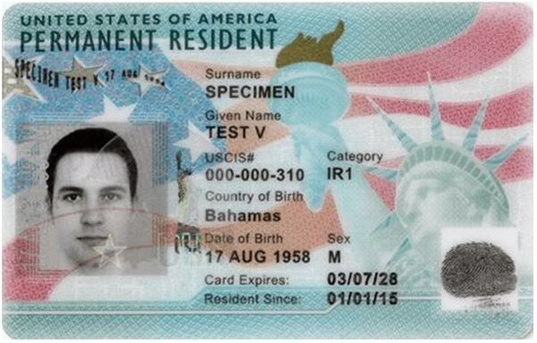 Current U.S. Legal Permanent Resident or Green Card