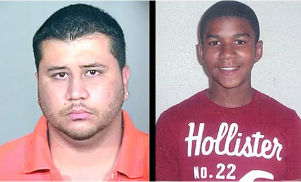 Photos of Zimmerman and Martin Broadcast by the Media